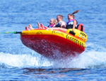 """""""EPIC Brand New Includes One Year Warranty, The Rave Sports 02645 Epic is chariot style boat tube that features durable heavy duty construction, nylon cover, 14 handles and dual quick connect tow points for multiple riding styles"""