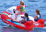 """""""Maverick Brand New Includes One Year Warranty, The Rave Sports 02649 Maverick is a 3 person boat towable that features heavy duty construction, polyester cover, neoprene covered headrests, integrated floor drains, six handles and a quick connect tow point"""