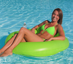 """Airhead Designer Series Float -Lime Brand New Includes One Year Warranty, The Airhead Designer Series Float features comfortable mesh seat and headrest"