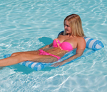 """""""Airhead Designer Series Floating Hammock Brand New Includes One Year Warranty, The Airhead Designer Series Floating Hammock has durable textilene mesh construction and features head and foot rests that are quick and easy to inflate and deflate"""