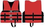 Image of Airhead 1000202ARD Universal Open Side Life Vest - Child Red