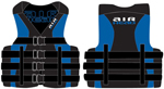 """Airhead Neo / Nylon Hybrid Life Vest - Large / XL Blue Brand New Includes One Year Warranty, The Airhead 1001405BBL is a one of the best quality floatation vests for adults"