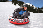 """Airhead Round Electron Snow Tube Brand New Includes 90 Days Warranty, The Airhead AHSN-1R2 is a classic round electron snow tube that provides a air cushioned ride down any snow covered hill"