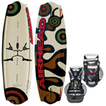Airhead Horns Up w/ Clutch Binding Brand New Includes 1 Year Warranty, The Airhead AHW-44 is a horns up wakeboard with CLUTCH binding mainly designed to provide the full and the highest water sport experience to you. It s designed for intermediate to expert riders weighing 90 -170 lbs. This wakeboard features 6 fin dual thruster setup which provides ultimate hold and tracking. Stay on edge, get more speed into the wake and stomp landings without slipping out. The removable center fins provide tracking. The side fins are curved and angle outwards at 11 degrees to provide extra edge hold and a loose feel in neutral. The continuous rocker is fast and forgiving with smooth pop. CLUTCH is a supportive binding and tight fit is provided by the upper and lower cinch lace-up system of the binding and 5 independent lace eyelets and adjustable toe strap. The orthotic footbed offers a perfect combination of support and cushion. AHW-44 Features: Product # AHW-44, Horns Up Wakeboard - 134cm, Up To 1 Rider, Delivers Smooth Transitions, 6 Fin Dual Thruster Setup, Ultimate Hold & Tracking, Removable Center Fins Provide Tracking, Curved & Angle Outwards Fins, Fast & Forgiving Continuous Rocker, Great Performance & Durability, 5 Independent Lace Eyelets, Orthotic Footbed, Aluminium Mounting Plates, Designed f/ Riders Up To 170 lbs