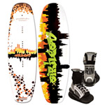 """Airhead Graffiti City w/ Grind Bindings Brand New Includes One Year Warranty, The Airhead AHW-3016 is a 143cm Grafitti City Wakeboard with Grind bindings, mainly designed to provide the full and the highest water sport experience to you"